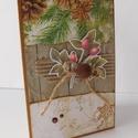 Karácsonyi mézes- Karácsony 2018 - egyedi, kézműves karácsonyi képeslap, karácsony, Naptár, képeslap, album, Ajándékkísérő, Képeslap, levélpapír, A Karácsony 2018 képeslapsorozatom annyira egyedi, hogy a sorozatban lévő minden képeslapból egyetle..., Meska