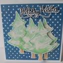 Fehér karácsony - Karácsony 2018 - egyedi, kézműves karácsonyi képeslap és pénzátadó szett. karácsony, Christmas card, Naptár, képeslap, album, Ajándékkísérő, Képeslap, levélpapír, A Karácsony 2018 képeslapsorozatom annyira egyedi, hogy a sorozatban lévő minden képeslapból egyetle..., Meska
