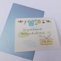 Welcome Little One!- egyedi kézműves fóliázott képeslap babaszületésre, babalátogatásra, Otthon & Lakás, Papír írószer, Képeslap & Levélpapír, Papírművészet, Szép, egyedi, kézműves képeslapot készítettem, mellyel köszöntheted az újsyülött babát és szüleit. ..., Meska