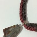 Ásványmedálos, Ékszer, Nyaklánc, A medál 4 cm-es. Különleges színvilágát a nyaklánc is igyekszik visszaadni., Meska