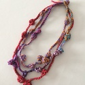 Csak pamut bohó, Ékszer, Nyaklánc, Textil nyakláncom 100% pamutfonalból készült . Hossza 60 cm, Meska