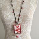 Bohó sikk, Ékszer, Nyaklánc, Franciacsomókkal hímzett textilékszer , hossz:100 cm, Meska