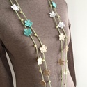 Zelma textilékszer, Ékszer, Nyaklánc, Hosszan és röviden is hordható nyaklánc, 100% pamut, Meska