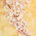 Virágzik a cseresznyefa, Képzőművészet, Festmény, Akril, 30,5x23 cm akrilfestmény strukturált felülettel, Meska