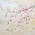 Virágzó ág, Képzőművészet, Festmény, Akril, 40x30 cm akrilfestmény feszített vásznon, Meska