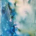 Vízesés akril festmény, Képzőművészet, Festmény, Akril,  40x20 cm akril farostlemezre, Meska