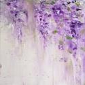 lilaakác festmény, Képzőművészet, Festmény, Akril,  15x15 cm-es feszítettvászonra készült akrilfestmény, Meska