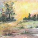 Napfelkelte, Képzőművészet, Festmény, Akril, 30x21 cm akril festmény, Meska