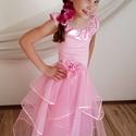 Virágos pink koszorúslány ruha 134-140 méretben, Ruha, divat, cipő, Esküvői ruha, Gyerekruha, Gyerek (4-10 év), Varrás, A 2016. év NYÁR divatszíne a rózsakvarc  Ez nem hiányozhat egyetlen divatkedvelő kislány ruhatárábó..., Meska