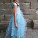 Babakék álomruha pink virággal 122-140 méretben, Ruha, divat, cipő, Gyerekruha, Gyerek (4-10 év), Esküvői ruha, Varrás, A 2016. év NYÁR divatszíne a babakék. Ezért ezzel a modellel kedvezünk a divatkedvelő kislányoknak...., Meska