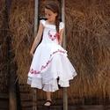 Piros magyaros kalocsai hímzett ruha 140-146 méretben, Esküvő, Ruha, divat, cipő, Gyerekruha, Gyerek (4-10 év), Hímzés, Varrás, Kedvenc színed a piros? Akkor ez igazán a Te ruhád lehet, ugyanis csak piros díszítéssel készült. A..., Meska