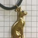 Egyiptomi Cica medál , Állatfelszerelések, Ékszer, Macska kellékek, Medál, Egyiptomi macska medál. -3cm magas  -925 ezüstből készült  , Meska