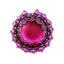 Lila gyöngy medál, Szerelmeseknek, Ékszer, Medál, Az alig 4 cm-es lila-kékeslila színkombinációs medál lunasoft cabochon középpel, amely fényb..., Meska