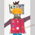 Roby Robot , Játék, Baba, babaház, Játékfigura, Saját terv és szabásminta alapján készült egyedi textil robot figurám, különböző színes ..., Meska