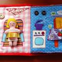készségfejlesztő textil mesekönyv, Játék, Baba, babaház, Készségfejlesztő játék, Társasjáték, Varrás, Patchwork, foltvarrás, A termék elkészítési ideje változhat a megadotthoz képest rendelés mennyiségétől hamarabb és később..., Meska