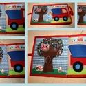 Babakönyv textilkönyv RENDELÉSRE, Játék, Készségfejlesztő játék, Társasjáték, Varrás, Patchwork, foltvarrás, Rendelésre készül! :) Névre szóló!  Textilkönyv babával, a kisfiú baba minden oldalon beilleszthető..., Meska