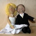 Esküvői baba pár rendelhető, Esküvő, Esküvői dekoráció, Nászajándék, Baba-és bábkészítés, Varrás, Általában fénykép alapján készítem őket megrendelésre :), Meska
