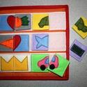 okoskönyv, Baba-mama-gyerek, Játék, Készségfejlesztő játék, Varrás, Patchwork, foltvarrás, Készség fejlesztő textilkönyv   A gyerekek imádják!  Rendelésre készül.  A képek (általam készített..., Meska