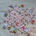 Címkerongyi , Baba-mama-gyerek, Baba-mama kellék, Varrás, Pamutvászonból készült ez a 20x20 cm-es rongyi grosgrain szalagokkal. A színes minták fejlesztik ki..., Meska