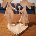 Szerelmes nyuszi pár, Esküvő, Dekoráció, Asztaldísz, Famegmunkálás, Nagyon cuki szerelmes nyuszipár fából, Szétvàlasztható szíveken. Kiváló ajándék Valentin-napra vagy..., Meska