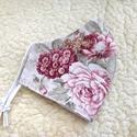 Nagy virág mntás Textil mosható szájmaszk, arc maszk ( felnőtt ), Maszk, Arcmaszk, Varrás, 100% pamutvászonból készült két rétegű textil felnőtt méretű száj- maszk. 10 DB VAGY AZ FÖLÖTTI DB ..., Meska