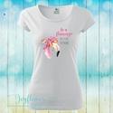 Be Flamingo - feliratos női póló vízfesték hatású grafikával, Ruha, divat, cipő, Női ruha, Felsőrész, póló, Be Flamingo - feliratos női póló vízfesték hatású grafikával  KÉRHETED EGYEDI FELIRATTAL IS!  Női pó..., Meska