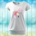 Be Flamingo - feliratos női póló vízfesték hatású grafikával, Ruha, divat, cipő, Női ruha, Felsőrész, póló, Be Flamingo - feliratos női póló vízfesték hatású grafikával  KÉRHETED EGYEDI FELIRATTAL IS!  Trendi..., Meska