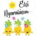 Első Nyaralásom - Ananászok - feliratos gyermek kombidressz (body) aranyos  grafikával gyönyörű nyárias színekben, Ruha, divat, cipő, Gyerekruha, Baba (0-1év), Kisgyerek (1-4 év), Első Nyaralásom - Ananászok - feliratos gyermek kombidressz (body) aranyos  grafikával gyönyör..., Meska