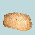 Ovális fedeles kenyér tartó, Otthon & Lakás, Konyhafelszerelés, Kenyértartó, Fonás (csuhé, gyékény, stb.), Tárold egészségesen a kenyered, meg a péksüteményedet egy fedeles tartóban, mely egy bútordarabnak ..., Meska