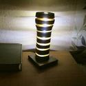 Dekorációs Korong Lámpa, Otthon, lakberendezés, Lámpa, Hangulatlámpa, Famegmunkálás, Különleges hangulatot nyújtó, fakorongokból összeállított dekorációs lámpa.   A lámpa lelke a közpo..., Meska