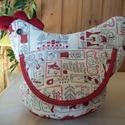 Karácsonyi tyúkanyó 4, Baba-mama-gyerek, Konyhafelszerelés, Kenyértartó, Textilből varrt tyúkanyó felhajtható szárnyakkal, taréjjal és gombszemekkel.  A textil rész egy fo..., Meska