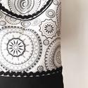 Diszkrét mandala  - válltáska, Erős, fekete anyagot, nagyon szép mintás vászo...