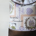 Levendula - válltáska , Nagyon szép levendulamintás vásznat textilbőrr...