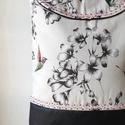 Kolibri  - válltáska , Táska, Válltáska, oldaltáska, Nagyon szép kolibri mintás vászon  anyagot kombináltam fekete textilbőrrel, amit különleges farkasfo..., Meska