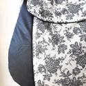 Legszebb  - válltáska , Táska, Válltáska, oldaltáska, Fekete textilbőrt nagyon szép, elegáns, fekete-fehér viragmintas pamutvászon anyaggal kombináltam, a..., Meska
