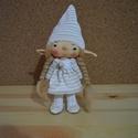 Manócska, Dekoráció, Játék, Baba, babaház, Játékfigura, Baba-és bábkészítés, A kedves kis manócska kb 32 cm magas,a sapija rögzített nem levehető, Meska