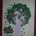 quilling almafa, Dekoráció, Kép, Papírművészet, A 4-es színes keretben készült quilling technikával.5 napig készítettem. Először quiling tekerővel ..., Meska