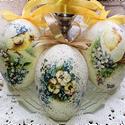 Húsvéti tojás, Dekoráció, Otthon, lakberendezés, Húsvéti díszek, Ünnepi dekoráció, Decoupage, transzfer és szalvétatechnika, Egyedi ünnepi dekorációt szeretnél? Akkor a legjobb helyen keresed. Igényesen elkészített tyúktojás..., Meska