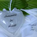 Pénzátadó szív - nászajándék, Esküvő, Nászajándék, Decoupage, transzfer és szalvétatechnika, Esküvőre vagy hivatalos és egy üdvözlőlap helyett valami mutatósabb dolgot keresel a nászajándékba ..., Meska