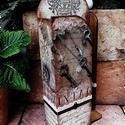 Zsebkendőtartó - 100db-os, Otthon, lakberendezés, Dekoráció, Decoupage, transzfer és szalvétatechnika, Vintage stílusban készült fali zsebkendőtartó, ami nem csak hasznos de mutatós dekorációja a lakásn..., Meska