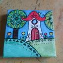 Manóházak vászonképen, Manóházakat rajzoltam három kisebb vászonképr...