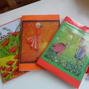 Kockás díszített füzetke naplónak, recepteknek, titkoknak, emlékeknek., Iskolai kockás füzetet díszítettem képpel, ma...