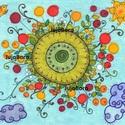 Virágos rét körben, Kedves virágokat rajzoltam erre a képre.  Kép m...