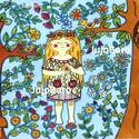 Boróka, az erdei tündér, Baba-mama-gyerek, Dekoráció, Képzőművészet, Karácsonyi, adventi apróságok, Filccel készült ez a rajz rajzkartonra Borókáról a bájos erdei tündérről.  Méret: 21 x 30 cm..., Meska