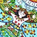 Én, és  a világ, Baba-mama-gyerek, Dekoráció, Képzőművészet, Ünnepi dekoráció, Karácsonyi, adventi apróságok, Filccel készült ez a rajz rajzkartonra a világról.  Méret: 21 x 30 cm, Meska