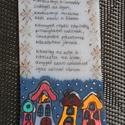 Karácsonyi idézetes zsugorkakártya, Dekoráció, Naptár, képeslap, album, Otthon, lakberendezés, Zsugorka, Festészet, Fehér zsugorkalapra írtam karácsonyi idézetet, rajzoltam képet. Ajándékkísérő, de ajándék is lehet...., Meska