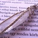 Hegyikristály medál, ezüstözött foglalatban, Ékszer, óra, Medál, Nyaklánc, Ékszerkészítés, Fémmegmunkálás, Gazdáját keresi ez az 6 cm x 1,5 cm-es, Hegyikristály rögből készült, 925-ös ezüsttel ezüstözött me..., Meska