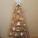 """""""Karácsonyfa"""" ünnepi dekor, Dekoráció, Karácsonyi, adventi apróságok, Ünnepi dekoráció, Karácsonyi dekoráció, Festett tárgyak, Ez a karácsonyfa igazán kedves, szívet melengető dekorációja lehet otthonunknak. De akár a bejárati..., Meska"""