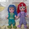 Shimmer és Shine mese figura, Játék, Játékfigura, Horgolás, 22 cm magas, mosható(mosózsák) , biztonsági szemekkel. Anyaga: műszálas fonal, műanyag gyöngyök.Szí..., Meska