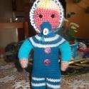 bébi, Játék, Horgolás, 25 cm bébi baba. mosható biztonsági szemekkel., Meska